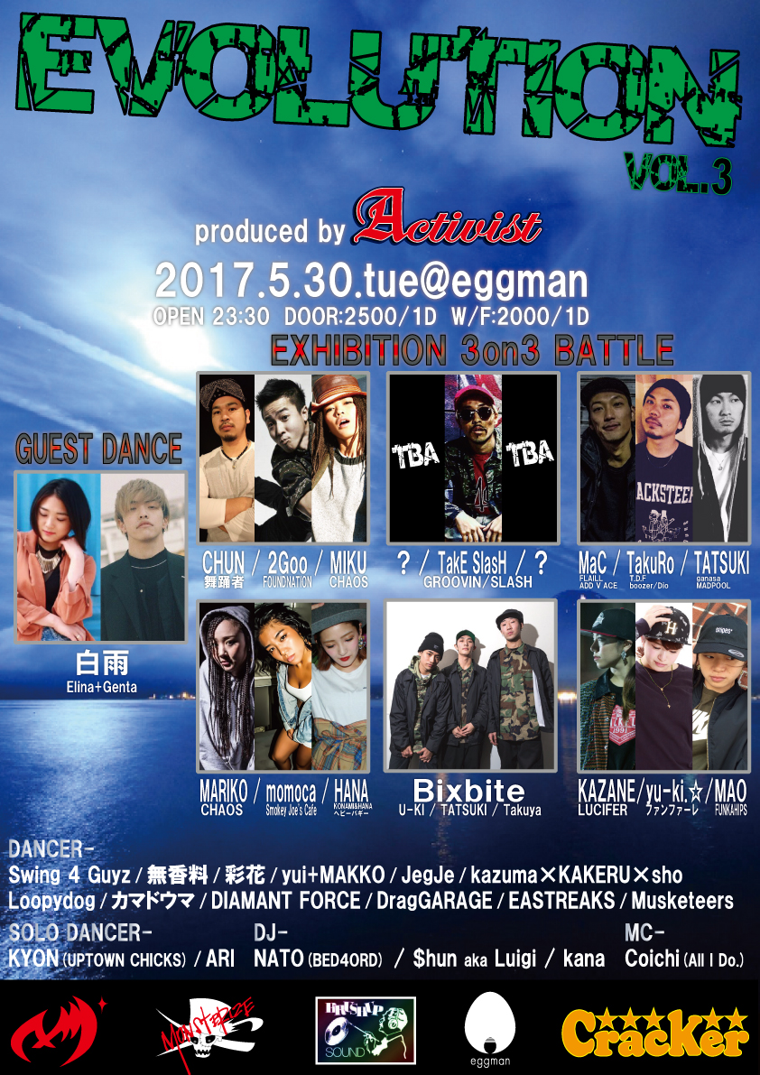 EVOLUTION vol.3<br>-next generation dance event-<br>-produced by Activist 2008-