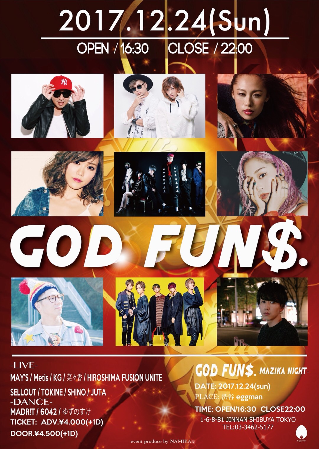 GOD FUN$.-mazika night-