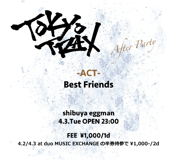 TOKYO TRAX After Party