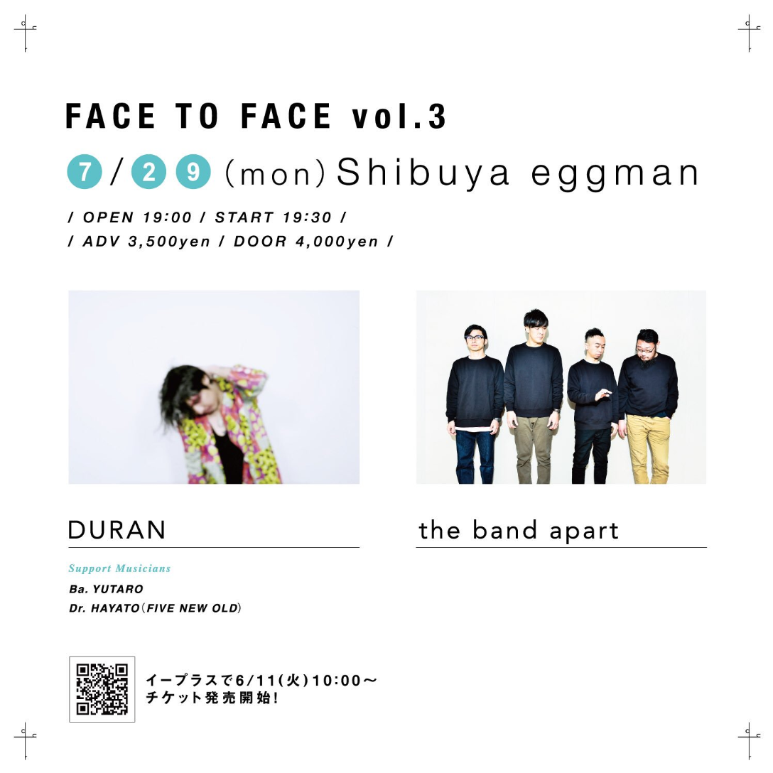 FACE TO FACE vol.3