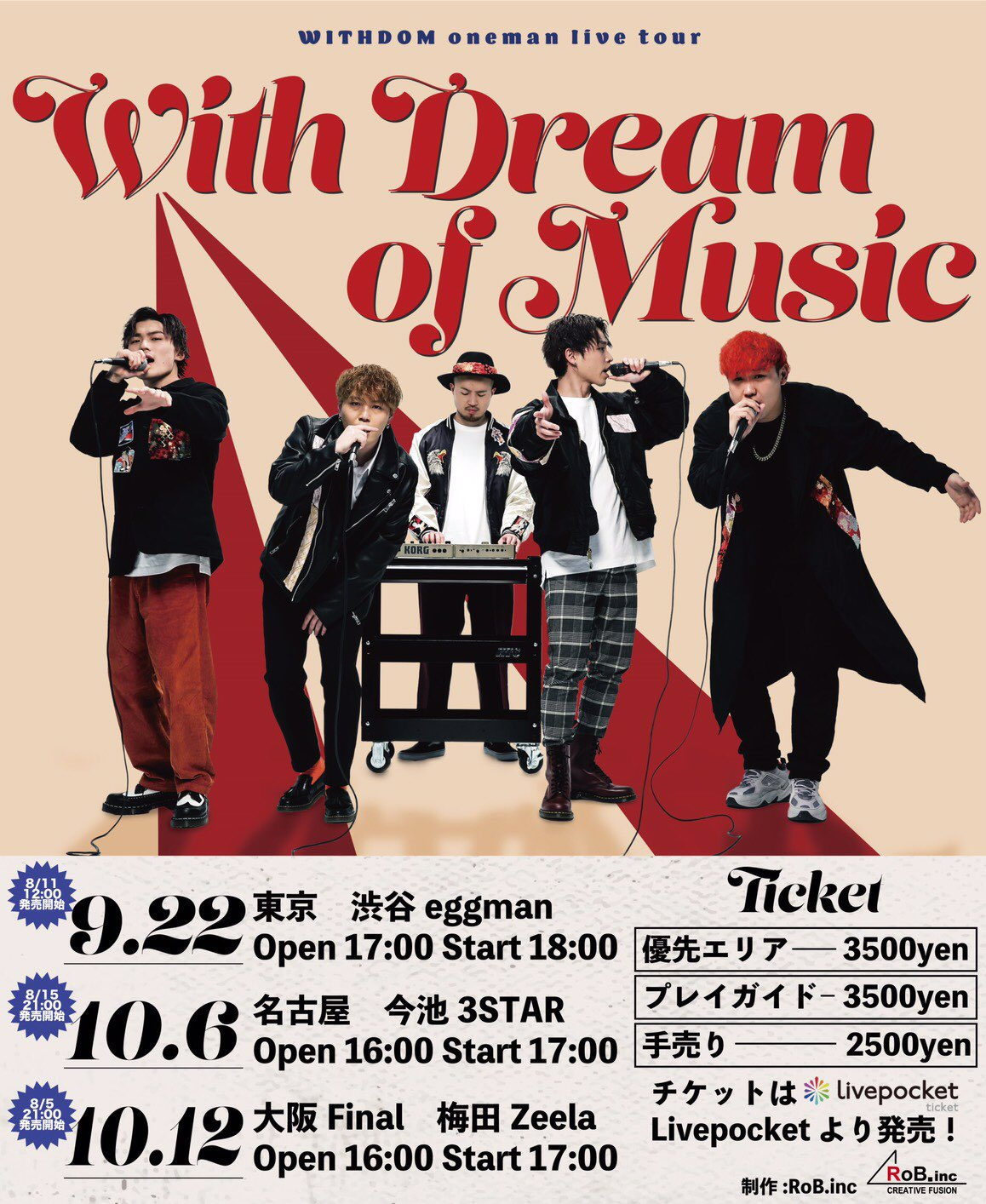"WITHDOM oneman live tour""With Dream of Music""in TOKYO"