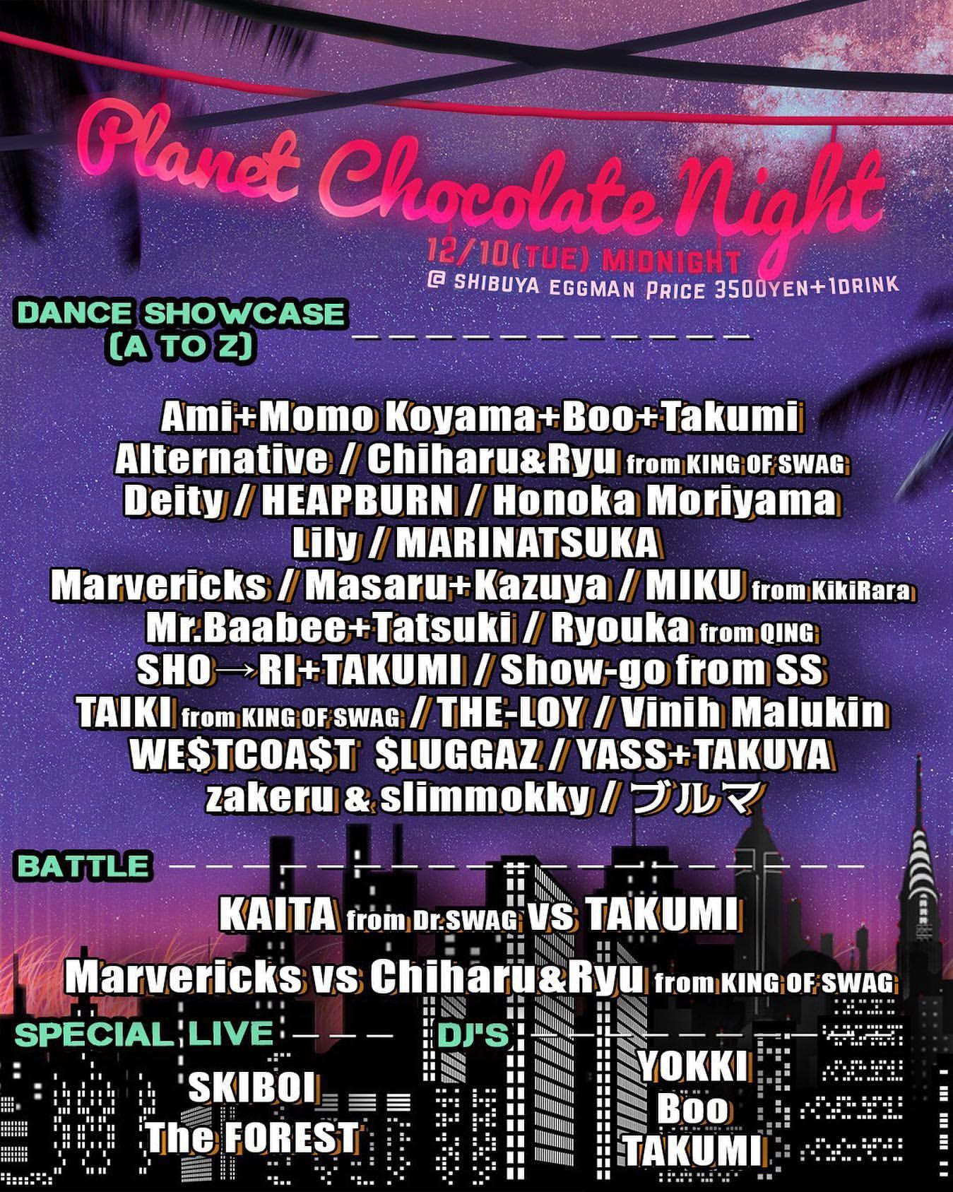 Planet Chocolate Night